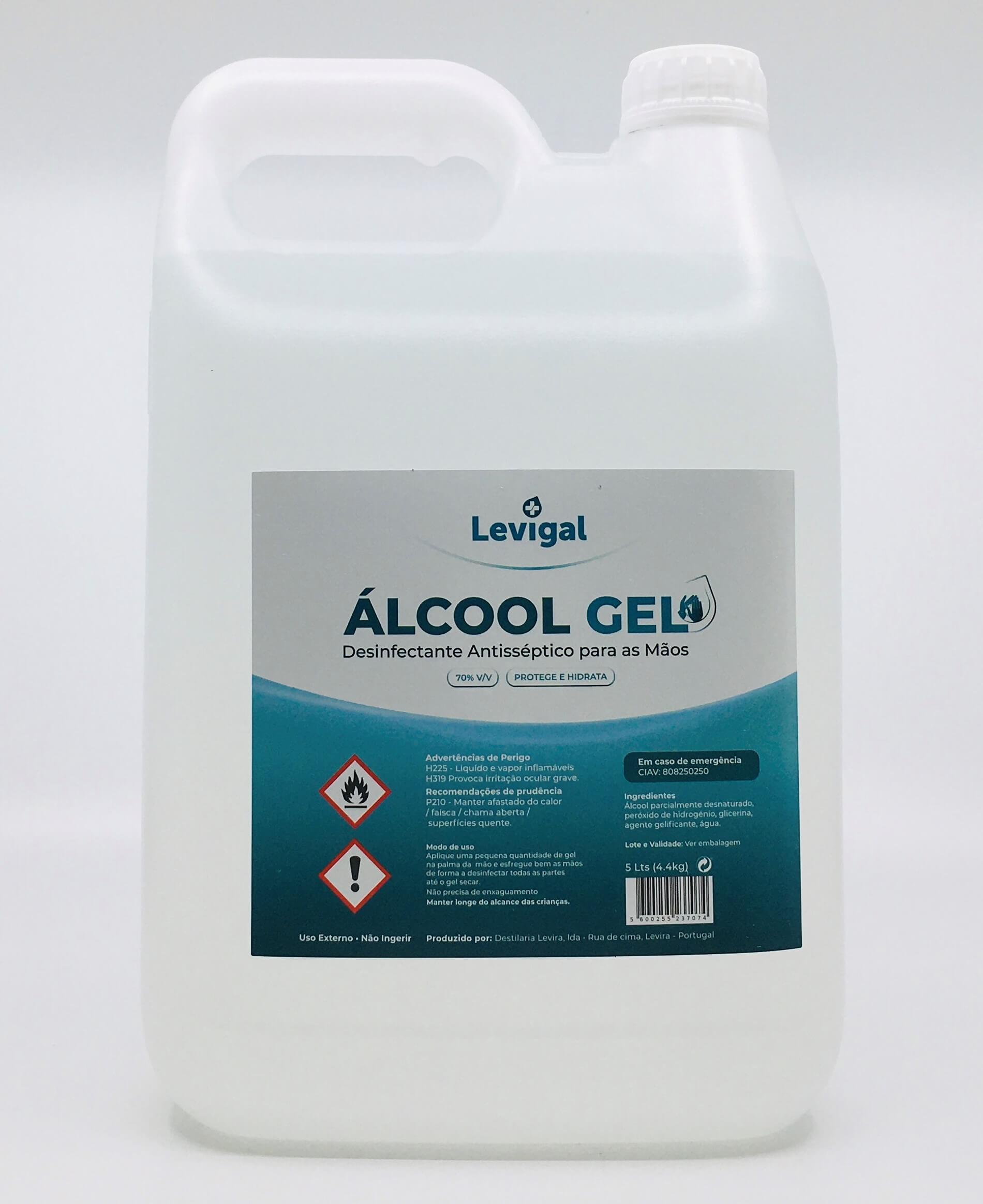 ALCOOL GEL LEVIGAL 70%